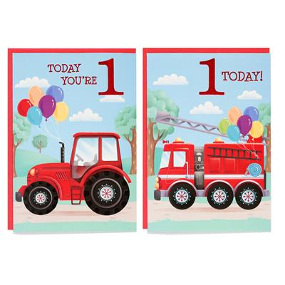 12pk Cards C50 Birthday Age 1