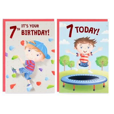 12pk Cards C50 Birthday Age 7