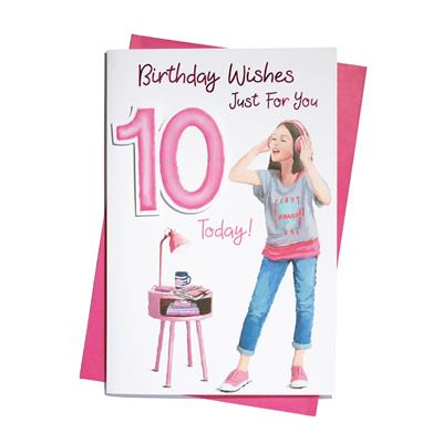 6pk Cards C75 Birthday Age 10