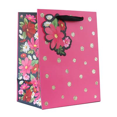 6pk Giftbags Extra Large Portrait Floral