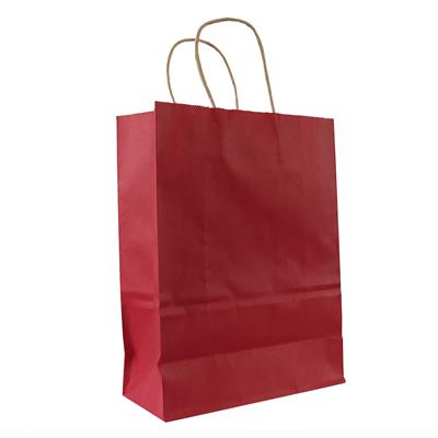 50pk Kraft Bag 240x110x310mm Red