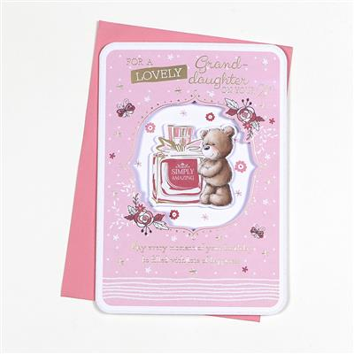 6pk Cards C90 Birthday Age 21 Granddaughter