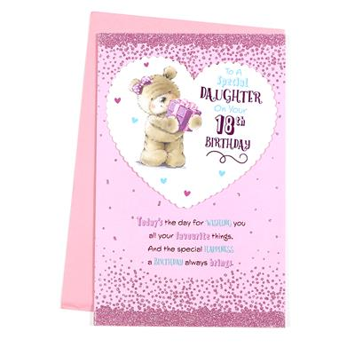6pk Cards C375 Birthday Age 18 Daughter