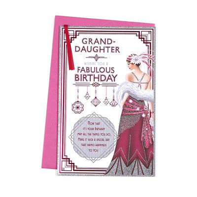 6pk Cards C375 Birthday Granddaughter