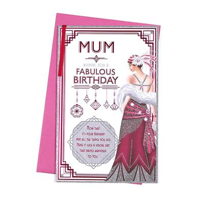 6pk Cards C375 Birthday Mum