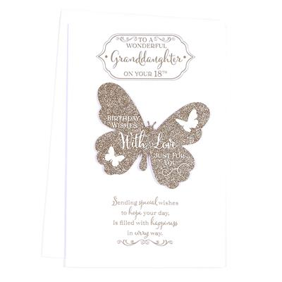 6pk Cards C375 Birthday Age 18 Granddaughter