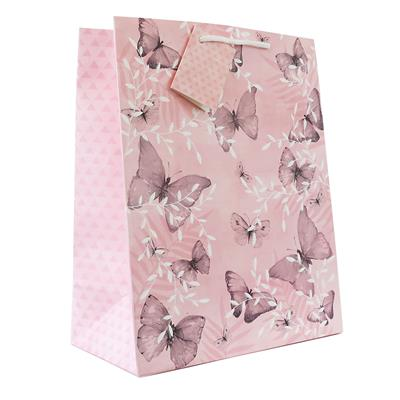 6pk Giftbags Large Portrait Butterfly