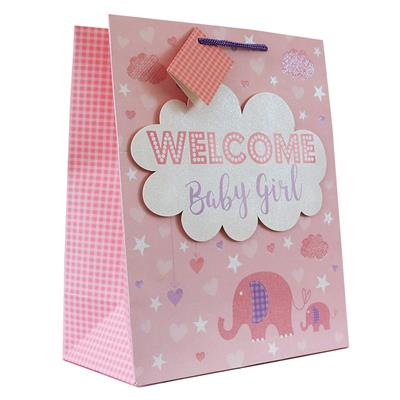6pk Giftbags Large Portrait Birth Congratulations