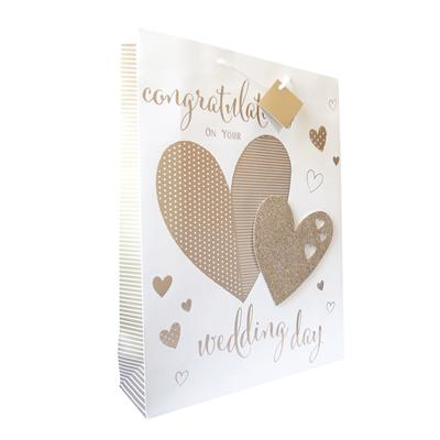 6pk Giftbags Large Portrait Wedding Day
