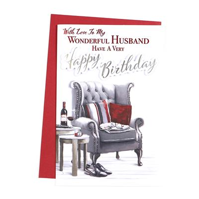 6pk Cards C75 Birthday Husband