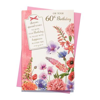 6pk Cards C150 Birthday Age 60