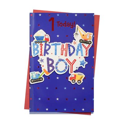 6pk Cards C150 Birthday Age 1