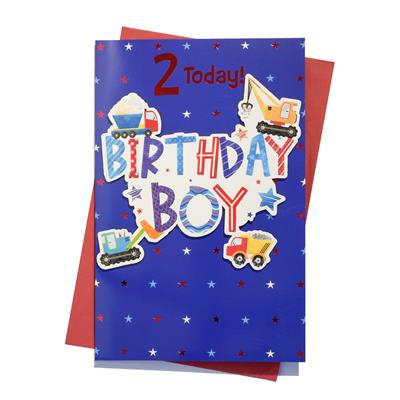 6pk Cards C150 Birthday Age 2