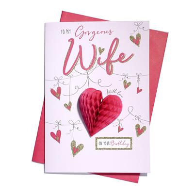 6pk Cards C75 Birthday Wife
