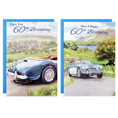 12pk Cards C50 Birthday Age 60