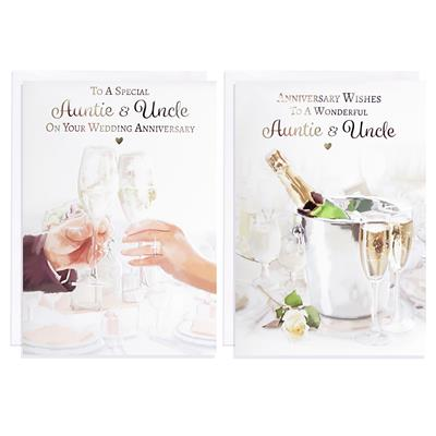 12pk Cards C50 Auntie & Uncle Anniversary