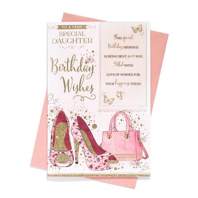 6pk Cards C75 Birthday Daughter