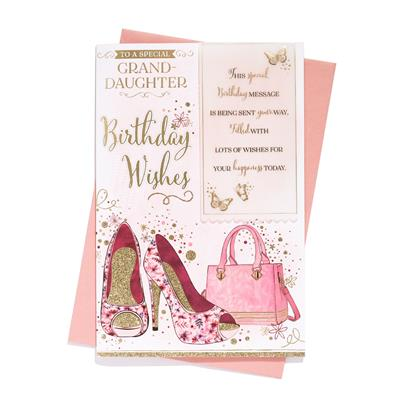 6pk Cards C75 Birthday Granddaughter