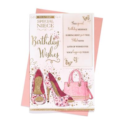 6pk Cards C75 Birthday Niece