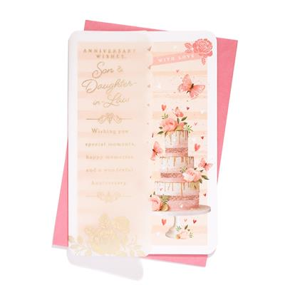 6pk Cards C75 Son & Daughter-In-Law Anniversary
