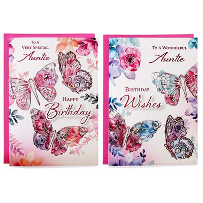 12pk Cards C50 Birthday Auntie