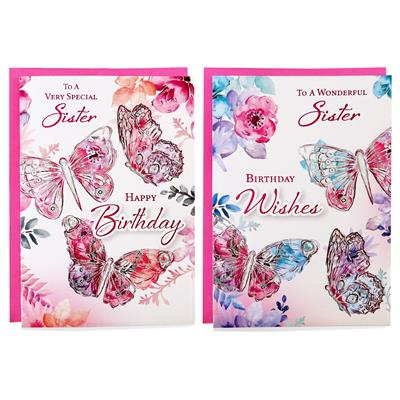12pk Cards C50 Birthday Sister