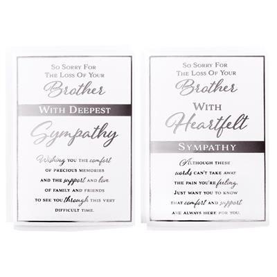 12pk Cards C50 Sympathy Loss Of Brother