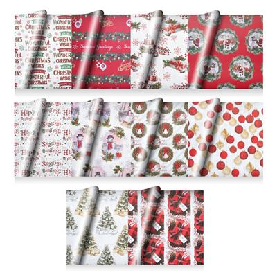 ½ Ream Assortment (240sht) Flatwrap Traditional Mixed Christmas