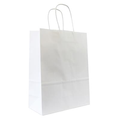50pk Kraft Bag 180x80x240mm White