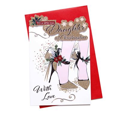 6pk Cards C75 Daughter Christmas