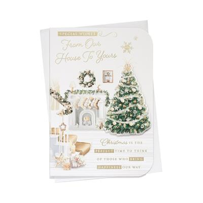 6pk Cards C50 Our House To Your House Christmas