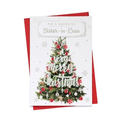6pk Cards C50 Sister-In-Law Christmas