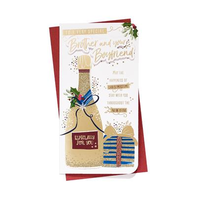 6pk Cards C55 Brother & Boyfriend Christmas