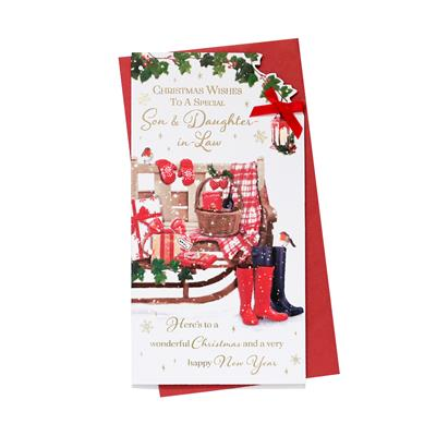 6pk Cards C55 Son & Daughter-In-Law Christmas