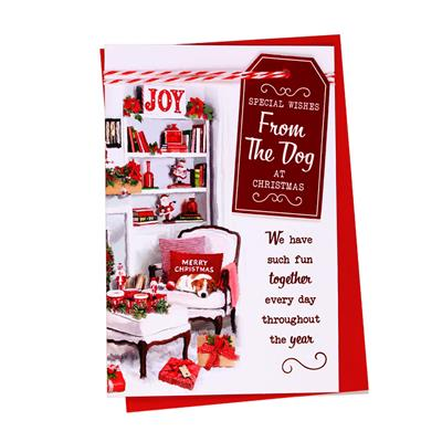 6pk Cards C75 From The Dog Christmas
