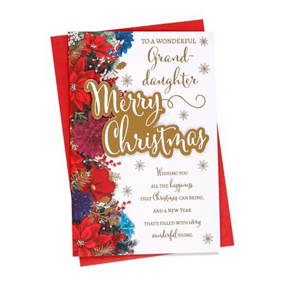 6pk Cards C75 Granddaughter Christmas
