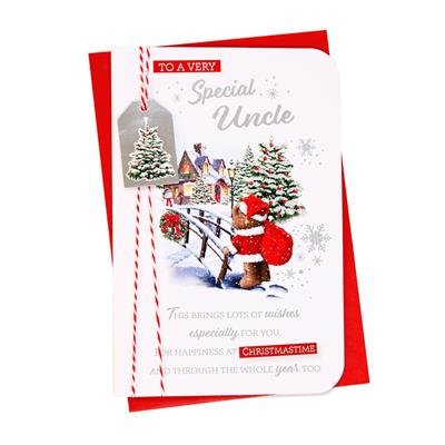 6pk Cards C75 Uncle Christmas