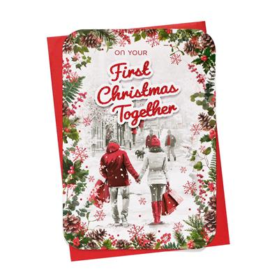 6pk Cards C90 1st Christmas Together Christmas