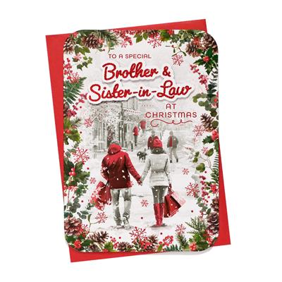 6pk Cards C90 Brother & Sister-In-Law Christmas