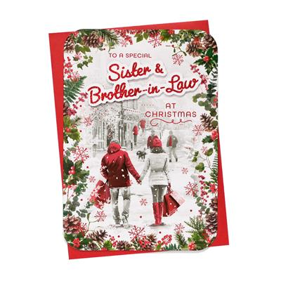 6pk Cards C90 Sister & Brother-In-Law Christmas